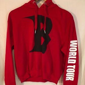 Red Justin Bieber world Tour Hoodie